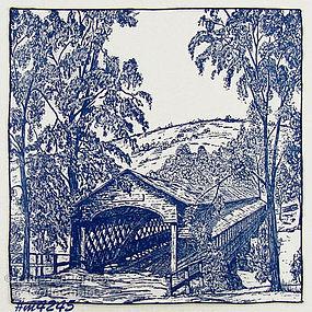 COVERED BRIDGE HANDKERCHIEF