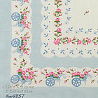 LOTS OF FLOWERS AND FLOWER CARTS HANDKERCHIEF