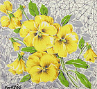 YELLOW PANSIES HANDKERCHIEF