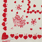 ROSES AND HEARTS VALENTINE HANDKERCHIEF