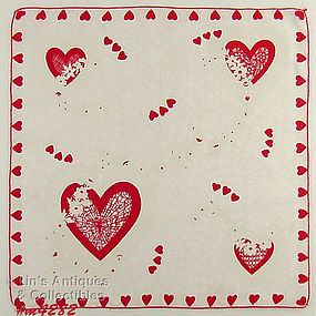 COLORFUL HEARTS VALENTINE HANDKERCHIEF