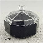 GLASS VANITY / POWDER JAR MADE IN FRANCE
