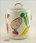 McCOY POTTERY � �VEGETABLES� COOKIE JAR