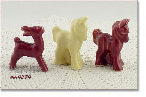 SHAWNEE POTTERY � MINI ANIMAL FIGURINES (CHOICE)