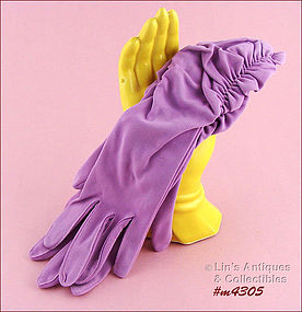 LILAC COLOR GLOVES (SIZE 6 � 6 ½)