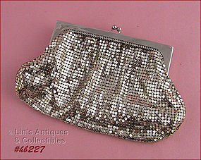 WHITING DAVIS METAL MESH EVENING BAG