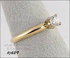 14K YELLOW GOLD ¼ CT. DIAMOND SOLITAIRE (SIZE 6)