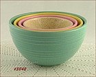 McCOY POTTERY � 4 NESTED BOWLS (RINGS DESIGN)