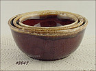 McCOY POTTERY � BROWN DRIP NESTED BOWLS (SET OF 3)