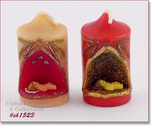 GURLEY, TWO CANDLES WITH BABY JESUS