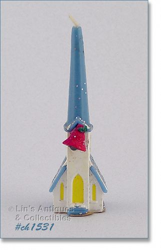 BLUE CHURCH GURLEY CANDLE