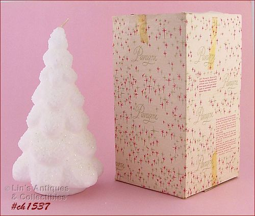 PARAGON 9� WHITE CHRISTMAS TREE CANDLE IN BOX!