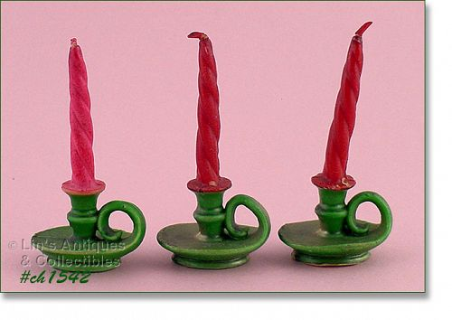 3 GURLEY CHAMBER STYLE CANDLES