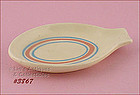 McCOY POTTERY � PINK AND BLUE SPOON REST