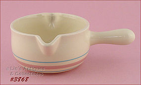 McCOY POTTERY � PINK AND BLUE GRAVY BOWL