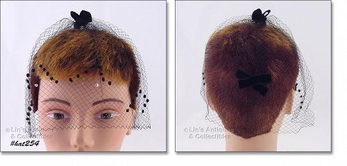 BLACK NETTING VEIL HEAD COVERING