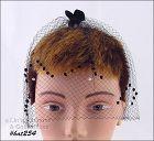 BLACK NETTING VEIL HEAD COVERING