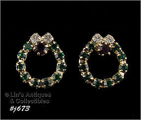EISENBERG ICE � CHRISTMAS WREATH EARRINGS
