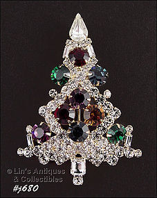 EISENBERG ICE � LARGE CHRISTMAS TREE PIN