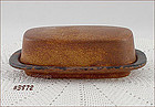McCOY POTTERY � CANYON COVERED BUTTER DISH