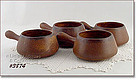 McCOY POTTERY � CANYON INDIVIDUAL SIZE CASSEROLES (4)