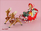 LEFTON � CANDY CANE SLEIGH WITH 2 REINDEER