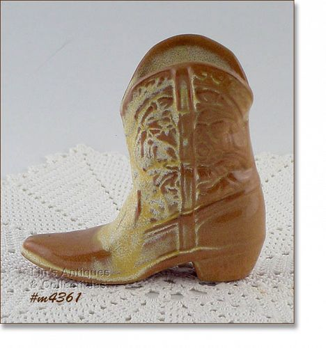 FRANKOMA POTTERY � SMALL BOOT PLANTER / VASE