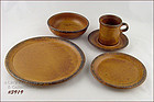 McCOY POTTERY � CANYON DINNERWARE SERVICE FOR 4 (20 PCS
