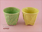 McCOY POTTERY � TWO PLANTERS (SMALL JARDINIERES)