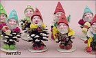 1 DOZEN PINE CONE ELF ORNAMENTS