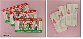 24 METAL ICICLES � MINT IN BOX!