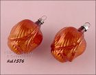 2 VINTAGE GLASS TULIP SHAPED ORNAMENTS