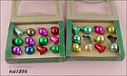 2 BOXES SHINY BRITE MINIATURE ORNAMENTS