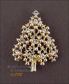 EISENBERG ICE � RHINESTONE CHRISTMAS TREE PIN