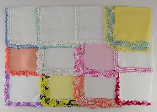 1 DOZEN ASSORTED HANDKERCHIEFS (LOT #P2)