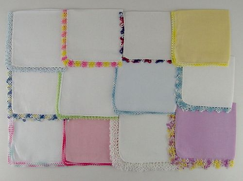1 DOZEN ASSORTED HANDKERCHIEFS (LOT #Q2)