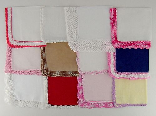 1 DOZEN ASSORTED HANDKERCHIEFS  (LOT #R2)