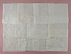 One Dozen White / Wedding Vintage Hankies (Lot #40)