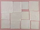 One Dozen White / Wedding Vintage Hankies (Lot #5)