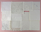 One Dozen White / Wedding Vintage Hankies (Lot #43)