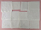 One Dozen White / Wedding Vintage Hankies (Lot #42)