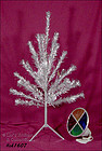 PECO PINE 4 FT ALUMINUM CHRISTMAS TREE WITH COLOR WHEEL