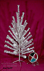 6 FT. SPARKLER ALUMINUM TREE  HOLLY LITE COLOR WHEEL