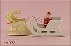 VINTAGE SANTA IN SLEIGH WITH 2 REINDEER