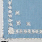 VINTAGE BLUE HANKY WITH WHITE DRAWNWORK