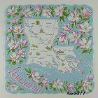 STATE SOUVENIR HANDKERCHIEF, LOUISIANA