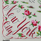SOUVENIR HANDKERCHIEF, NEW YORK CITY