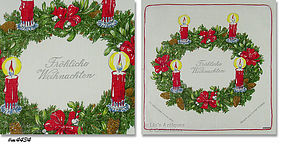 PERSONALIZED KREIR GERMAN  CHRISTMAS HANKY