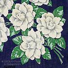 WHITE ROSES VINTAGE HANDKERCHIEF