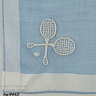 TENNIS PLAYER VINTAGE HANDKERCHIEF
